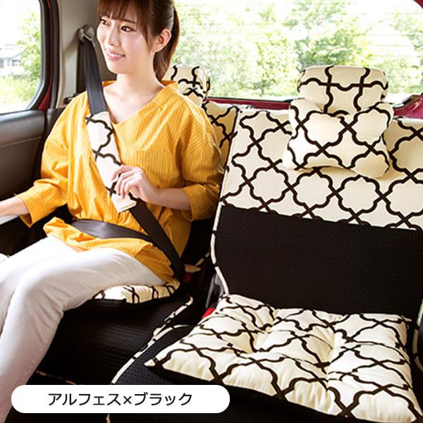 後部座席用シートカバー2枚セット(左右セパレートタイプ)(バンダナ付き)/アルフェス柄