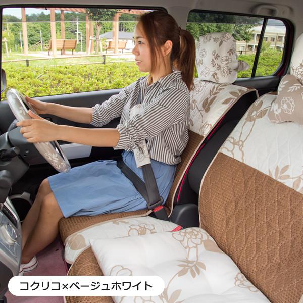 NBOX・Nスラッシュ専用キルティングシートカバーフルセット/コクリコ柄