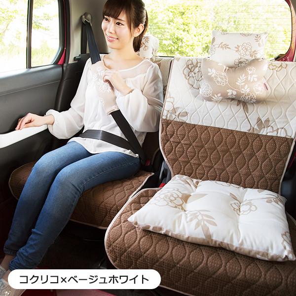 後部座席用シートカバー2枚セット(左右セパレートタイプ)(バンダナ付き)/コクリコ柄