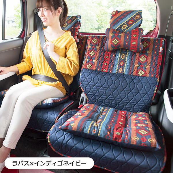 後部座席用シートカバー2枚セット(左右セパレートタイプ)(バンダナ付き)/ラパス柄