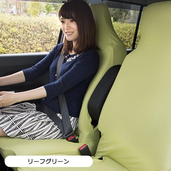 軽自動車にフィット!運転席・助手席・後部座席対応の左右独立型リフィットシートカバー・2枚組