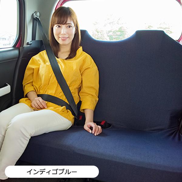 軽自動車にフィット!後部座席対応のベンチシートタイプリフィットシートカバー・1枚入