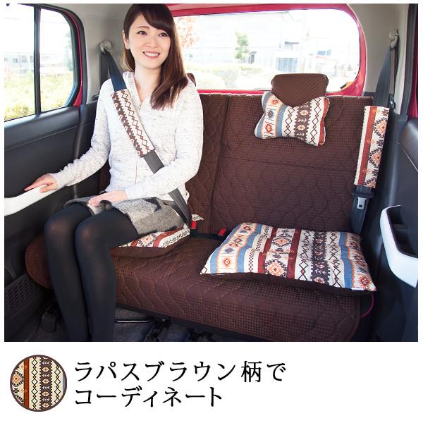 軽自動車専用タイプ・後部座席キルティングシートカバー・バンダナ付/プレーン柄